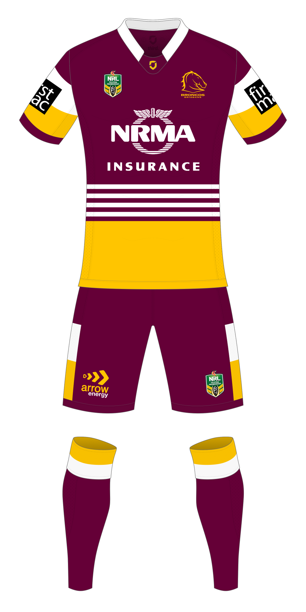 Brisbane Broncos Home Kit