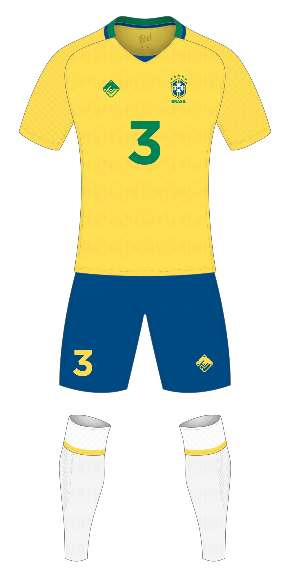 Brazil World Cup 2018 concept