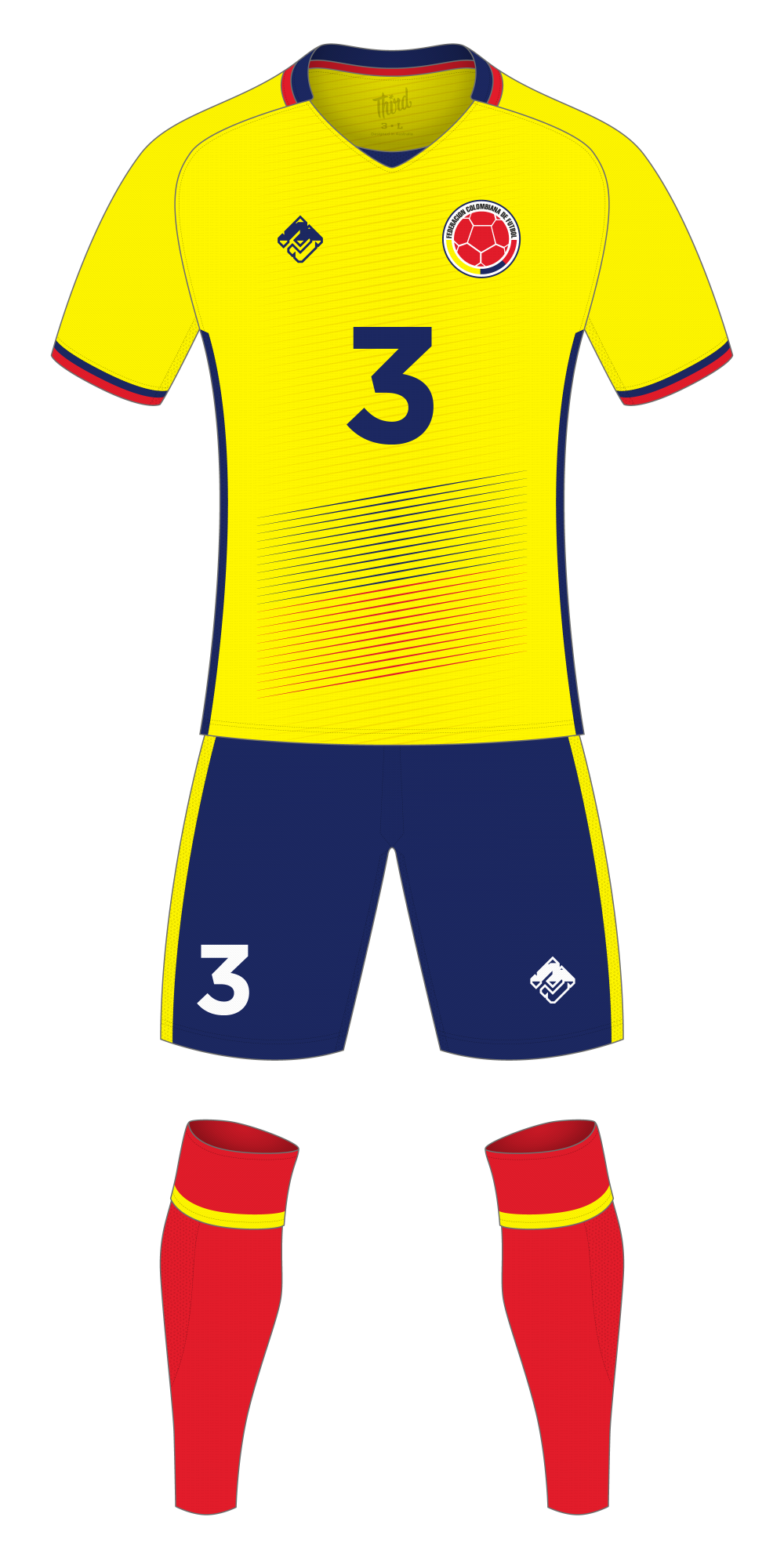 Colombia World Cup 2018 concept