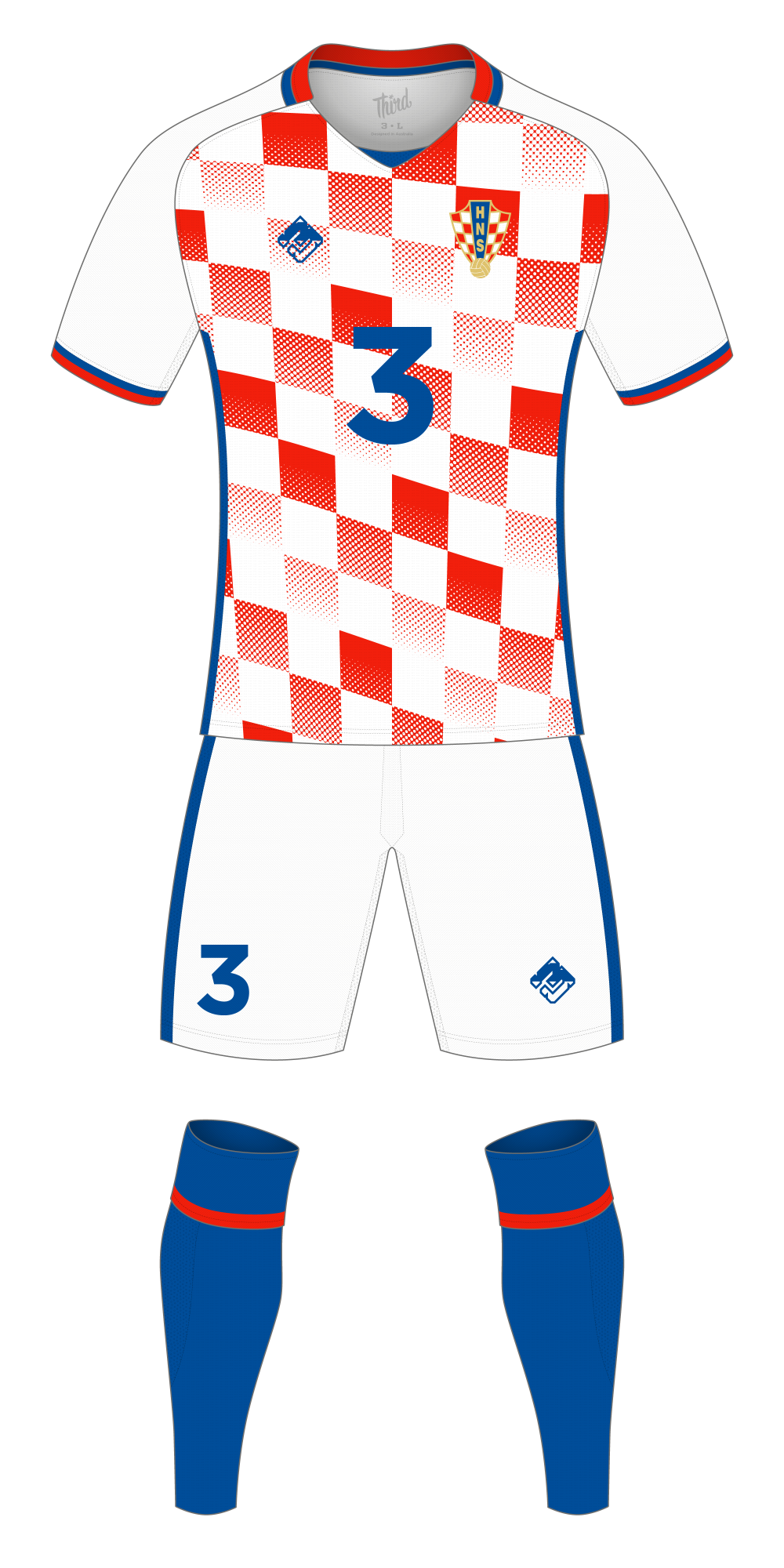 Croatia World Cup 2018 concept