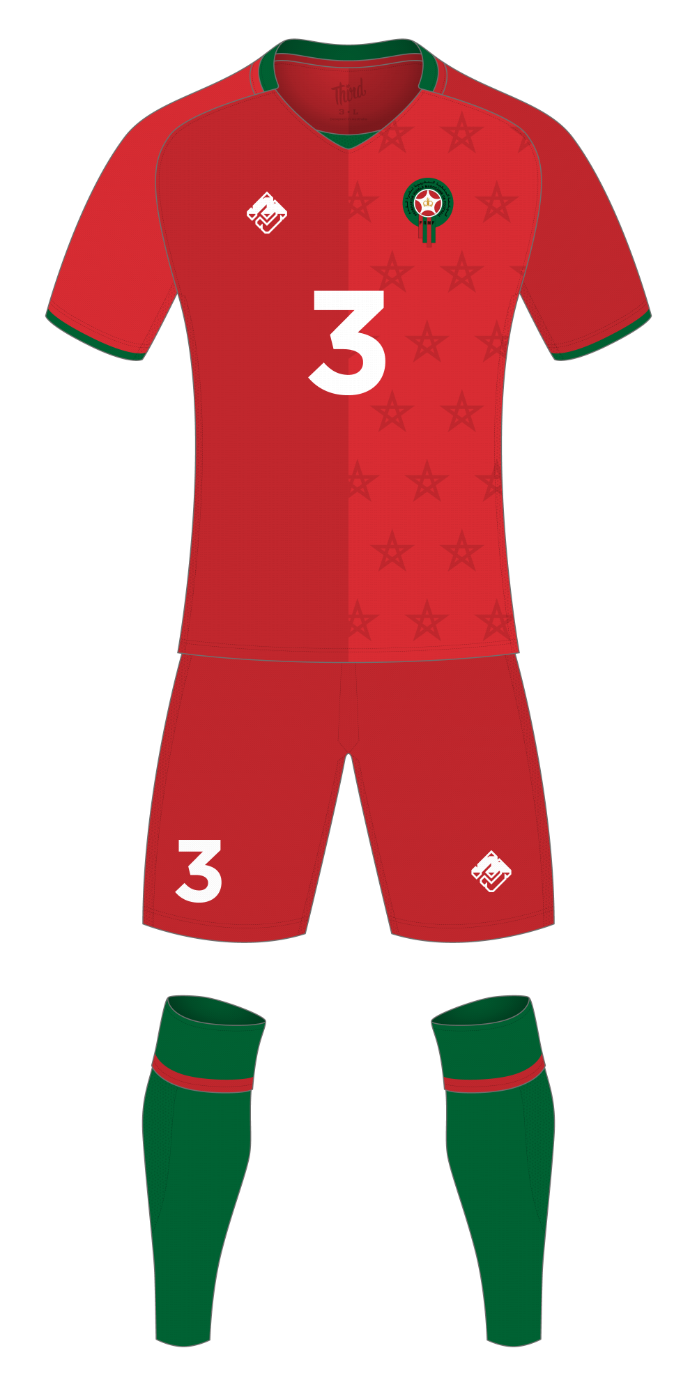 Morocco World Cup 2018 concept
