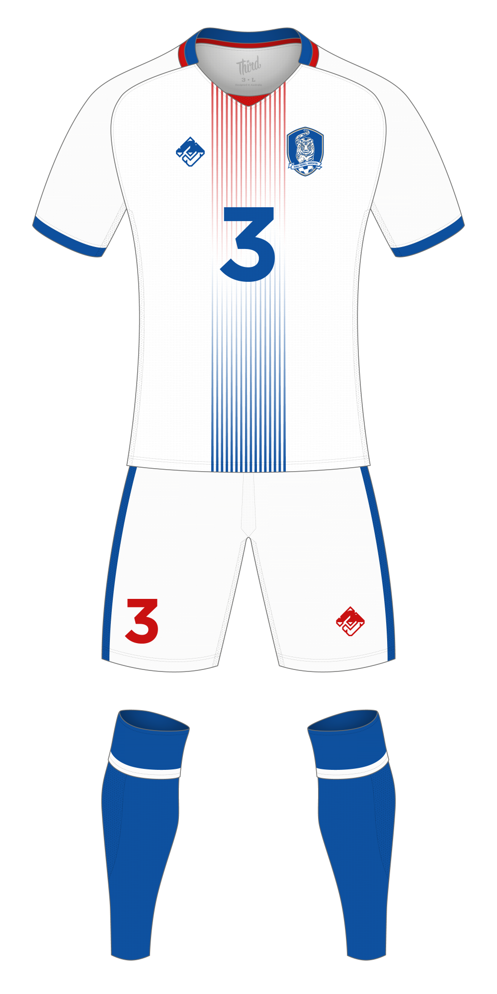 South Korea World Cup 2018 concept