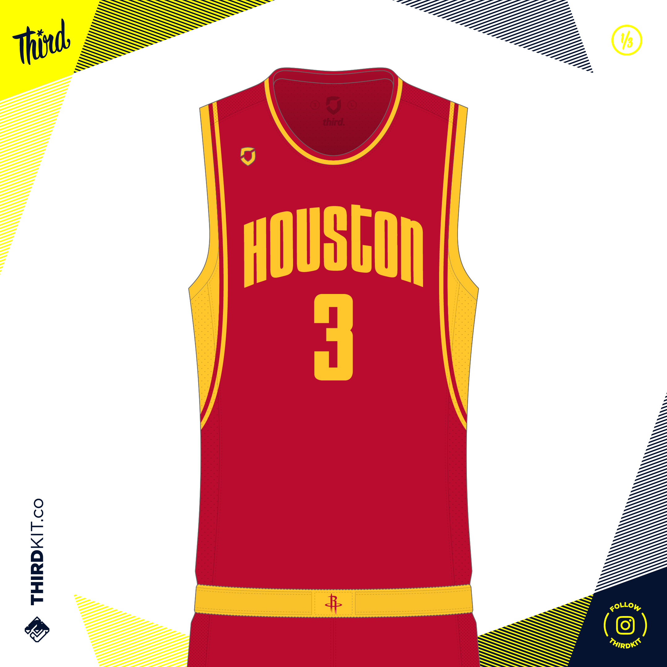 brand new 9ef3b bc50e Houston Rockets Away — Third Sports Design by Dean Robinson